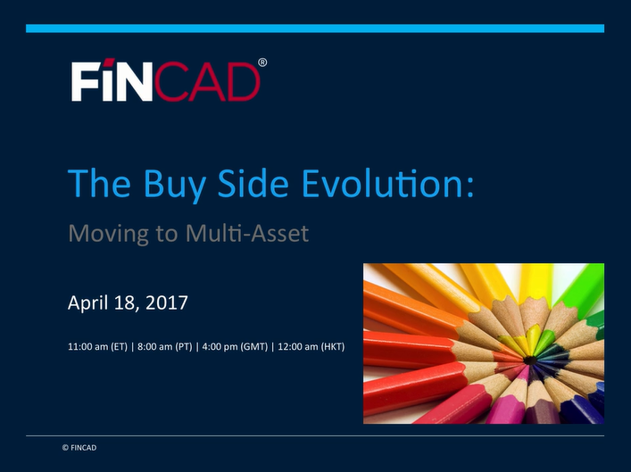 The Buy Side Evolution: Moving to Multi-Asset