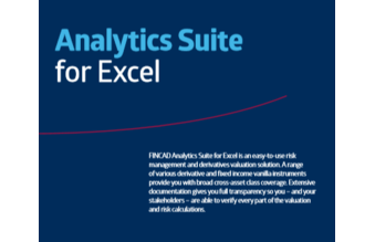 FINCAD Analytics Suite for Excel